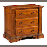 A Neoclassical style carved pine chest <BR />20th century