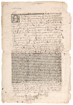 Partly Printed DS from the First Printing Press in the New World, 1562