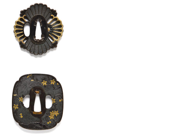 Two ko-kinko tsuba Early 17th century