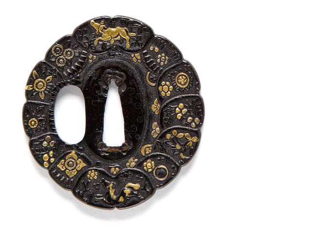 A fine and large ko-kinko tsuba 16th century