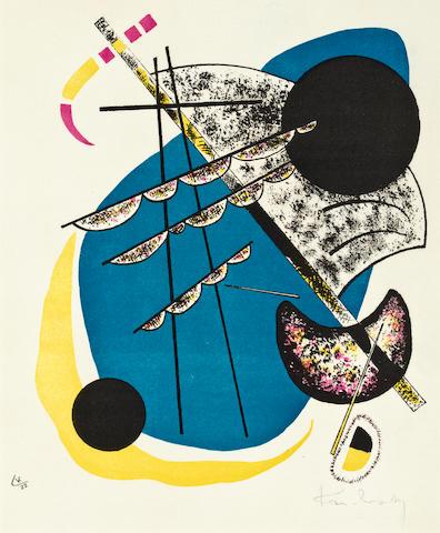Wasily Kandinsky<BR />Kleine Welten II<BR />Lithograph, 1922<BR />11 1/2 x 9 1/2 inches