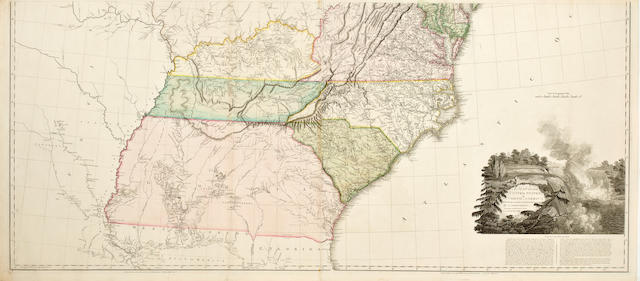 ARROWSMITH, AARON. A Map of the United States if North America. Drawn from a number of Critical Researches. London: Arrowsmith, 1802 [but c.1810].
