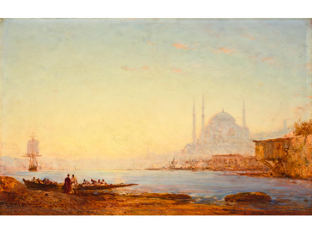 Félix François Georges Philibert Ziem (French, 1821-1911) Constantinople, le Bosphore 15 x 23in (38 x 58.5cm)