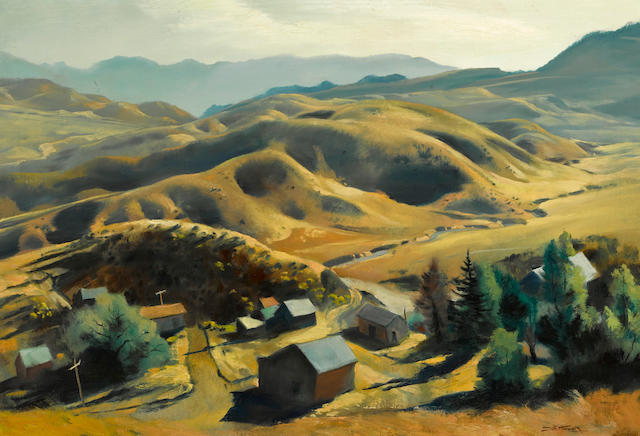 Emil Jean Kosa, Jr. (American, 1903-1968) Above Gorman 27 1/4 x 40 1/4in