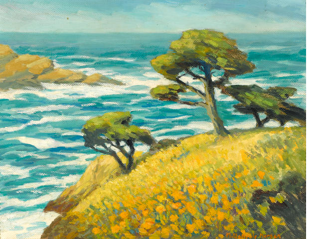 Mary DeNeale Morgan (1868-1948) Springtime, Point Lobos 14 x 18in