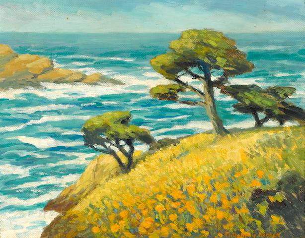 Mary DeNeale Morgan (1868-1948) Springtime, Point Lobos 14 x 18in