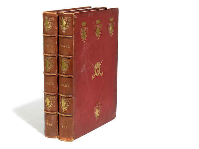 Two volumes of Paris Traverse les Ages, 1882