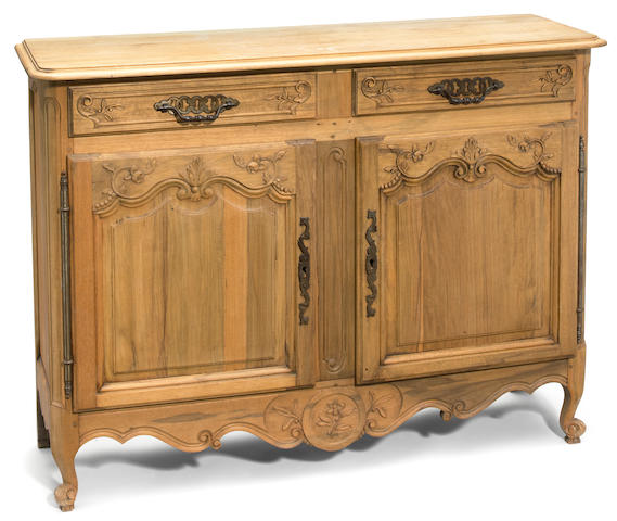 A Louis XV style fruitwood buffet