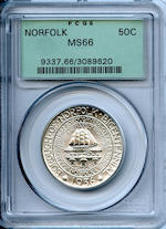 1936 Norfolk 50C MS66 PCGS