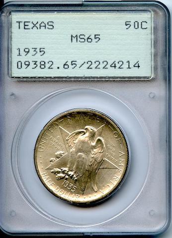 1935 50C Texas MS65 PCGS
