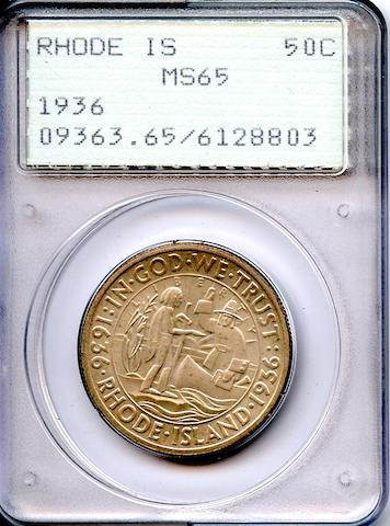 1936 50C Rhode Island MS65 PCGS