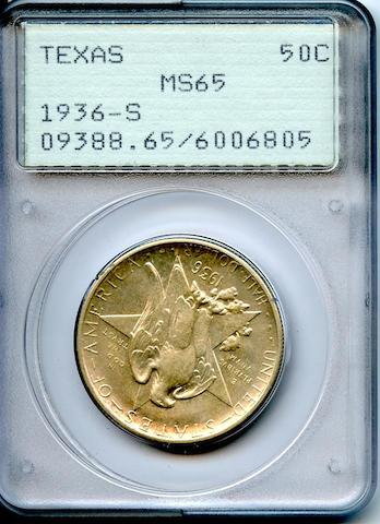 1936-S 50C Texas MS65 PCGS