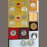 Collection of Modern Taiwanese Coins in Silver and gilt metal