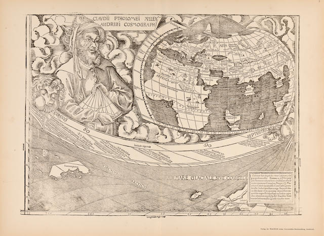 NAMING AMERICA—WALDSEEMULLER, MARTIN. FISHER, JOSEPH, AND R. VON WEISER, eds. The Oldest map with the name America of the year 1507, and the carta Marina of the year 1516. Innsbruck: 1903.