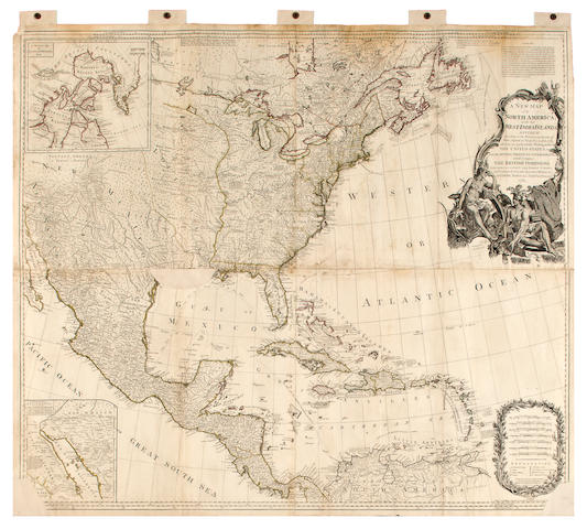 POWNALL, THOMAS. 1722-1805. A New Map of North America, with the West India Islands. London: Robert Sayer, [1786].