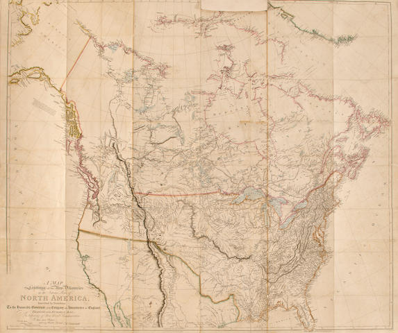 Map of North America, 1795