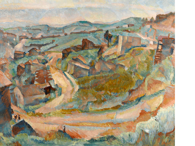 Gertrude Partington Albright (American, 1883-1953) Below Twin Peaks, 1925 24 1/4 x 29 1/4in