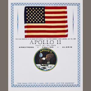 UNITED STATES FLAG CARRIED ON APOLLO 11