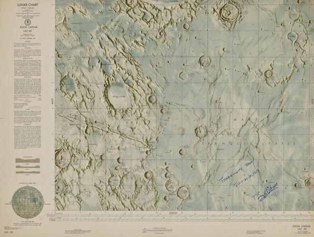 APOLLO 11 LANDING SITE CHART