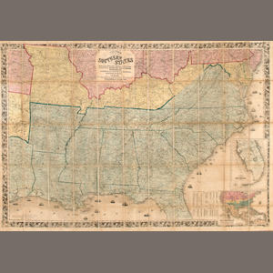 COLTON, JOSEPH H. 1800-1893. Colton's Map of the Southern States... London: Bacon and Co., 1862.