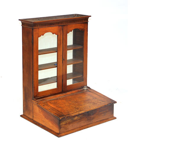 A lap desk reconfigured as a bookcase late 18th century