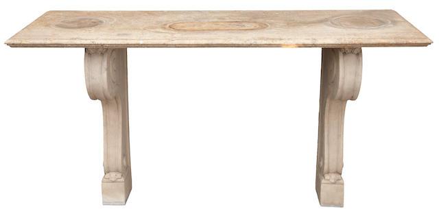 Bonhams A Neoclassical Style Cast Stone Console Table