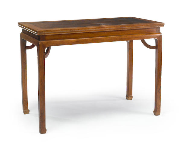 A fine huanghuali and burlwood table 18th century