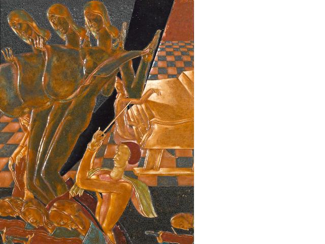 Karoly Fulop (Hungarian/American, 1893-1963) Concert 27 1/2 x 21 1/2in