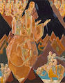 Karoly Fulop (Hungarian/American, 1893-1963) Knights 27 x 22in