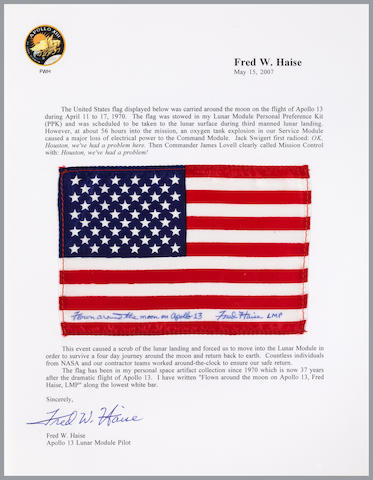 STARS AND STRIPES PLANNED TO BE TAKEN TO THE LUANR SURFACE ON APOLLO 13