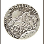 FRED HAISE'S ROBBINS MEDALLION CARRIED ON APOLLO 13