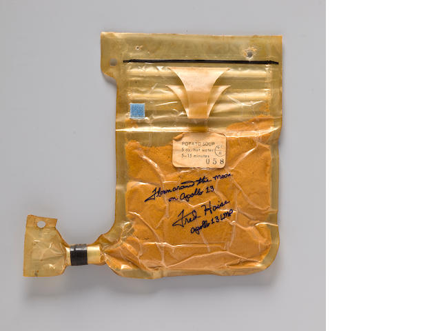 FRED HAISE'S POTATO SOUP CARRIED ON APOLLO 13
