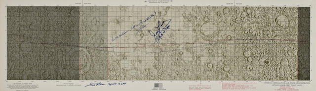 APOLLO 13 LUNAR ORBIT CHART – NO SUDDEN IMPACT - SIGNED