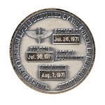 IRWIN'S FLOWN APOLLO 15 ROBBINS MEDALLION
