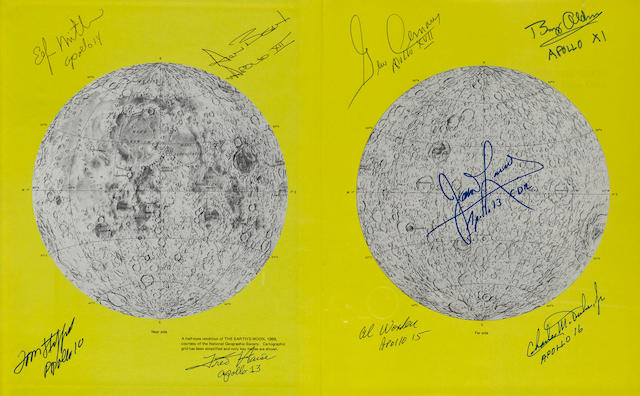 APOLLO PHOTOGRAPHIC VIEWS FROM LUNAR ORBIT - SIGNED.