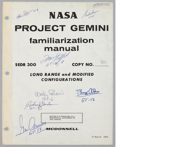 NASA PROJECT GEMINI FAMILIARIZATION – SIGNED.