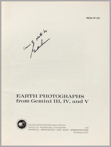 COOPER'S GEMINI PHOTOGRAPHY BOOK. COOPER ON EARLY ORBITAL PHOTOGRAPHY.