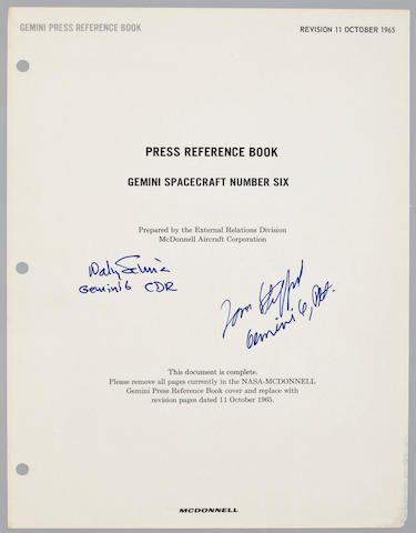 STAFFORD'S MCDONNELL PRESS REFERENCE BOOK – SIGNED.