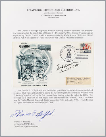 STAFFORD'S GEMINI 7 LAUNCH COVER – SIGNED.