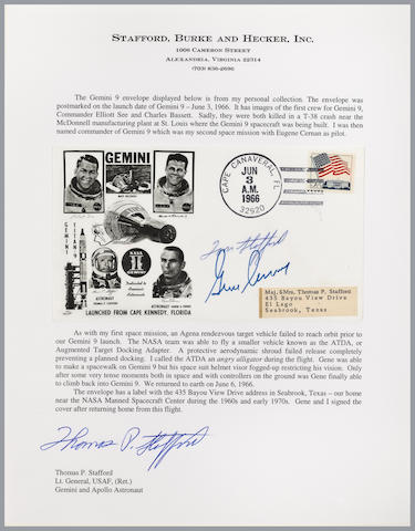 STAFFORD'S GEMINI 9 LAUNCH COVER – SIGNED.