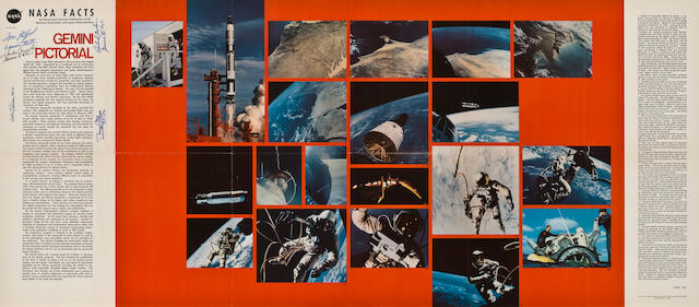 PICTORIAL POSTER – SIGNED, INCLUDING TWO GEMINI CREWS.
