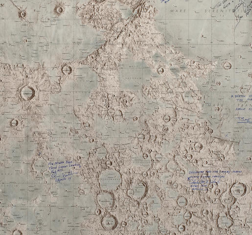 EXTRA LARGE LUNAR NEAR SIDE CHART.