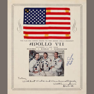 FLOWN APOLLO 7 UNITED STATES FLAG