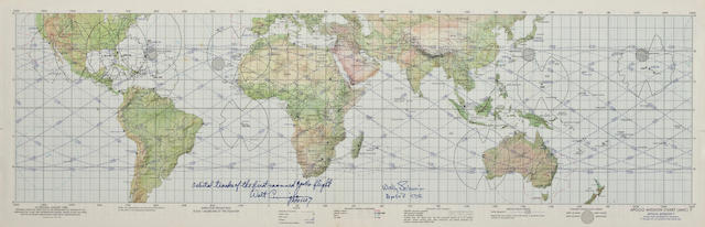 APOLLO 7 EARTH ORBIT CHART – SIGNED