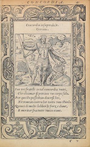 ALCIATO, [ANDREA]. Diverse Impresse Accommodate diverse moralita.... Lione: Mathias Bonhomme, 1551.<BR />