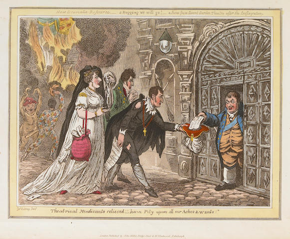 GILLRAY, JAMES. 1757-1815. The Caricatures of Gillray. London: John Miller, [1818].