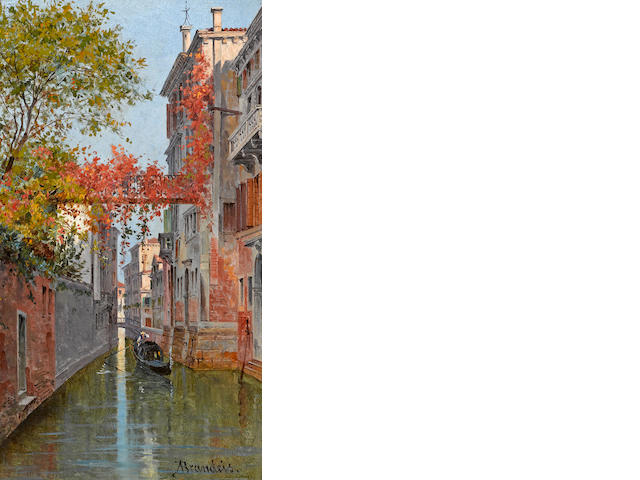 A. Brandeis, Venice and Palazzo Albrizzi (a pair)