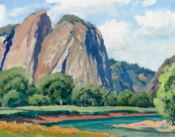 Arthur Hill Gilbert (American, 1894-1970) Yosemite sight: 10 3/4 x 13 3/4in