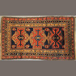 A Kurdish rug size approximately 4ft. x 7ft. 2in.