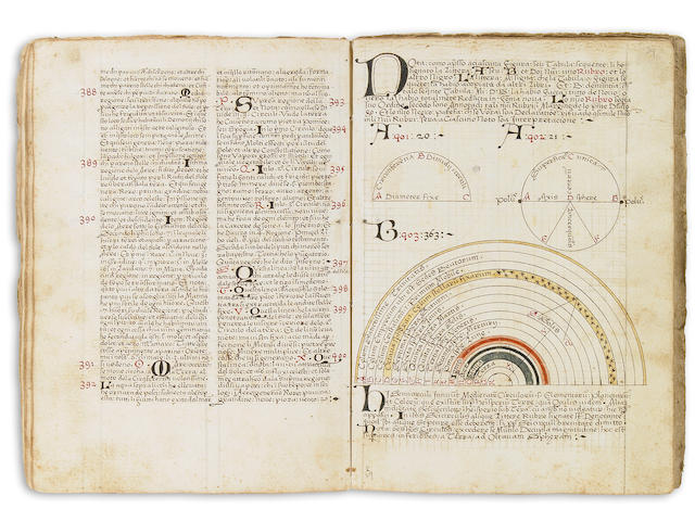 Bernardus Albingaunensis manuscript, account of voyages of discovery in Africa, Asia, and the New World, 1512.